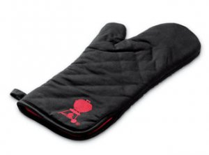 Barbecue Mitt, Black w/red kettle