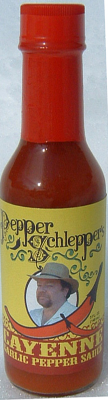 Pepper Schlepper Cayenne Garlic Pepper Hot Sauce